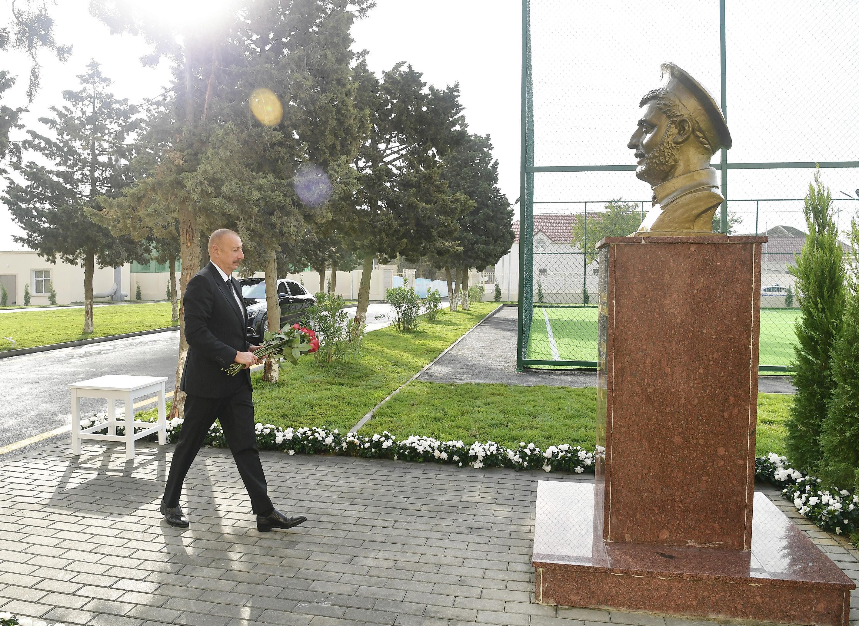 Prezident İlham Əliyev  Aqarunovun adını daşıyan məktəbin açılışında iştirak edib