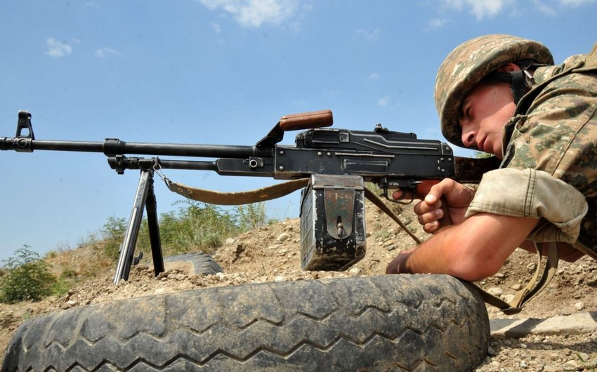 Armenians fire at Azerbaijani positions 57 times