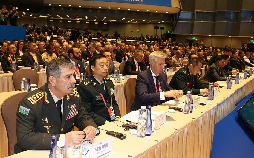 Azerbaijan Defense Minister holds several meetings in China