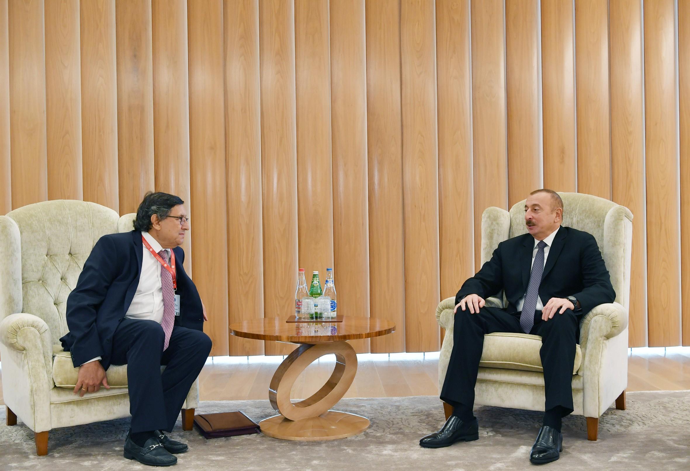 Президент Ильхам Алиев встретился с заместителем генерального секретаря ООН