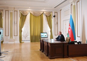 President Ilham Aliyev receives Zaur Mikayilov in video format