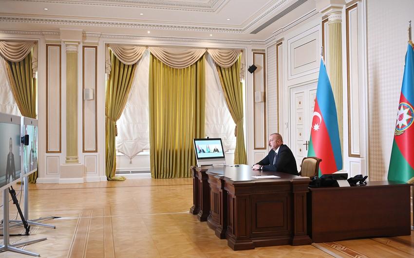 President Ilham Aliyev receives Zaur Mikayilov in video format