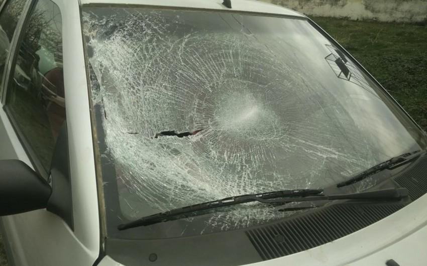 Bakıda yol-nəqliyyat hadisəsi baş verib - VİDEO
