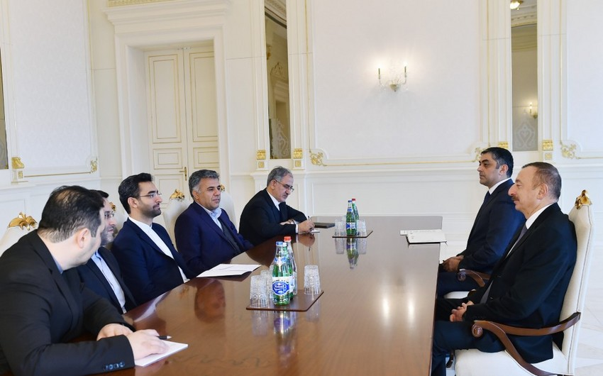 President Ilham Aliyev receives Iranian minister of information and communications technology