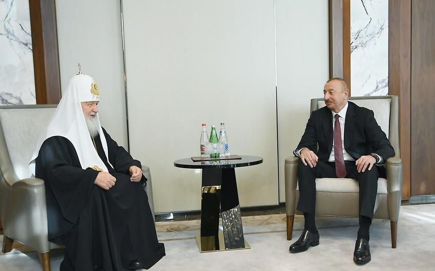 Prezident İlham Əliyev: Dünya dinlərinin nümayəndələrinin sözündən çox şey asılıdır