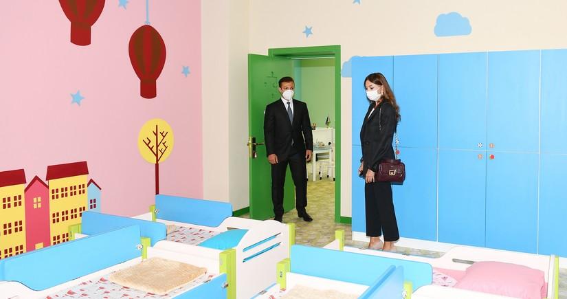 Mehriban Aliyeva attends new building of kindergarten