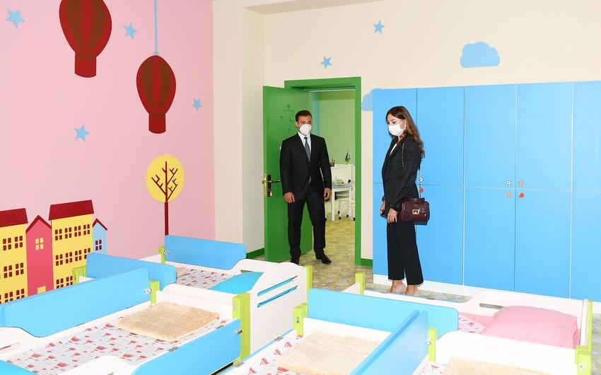 Мехрибан Алиева приняла участие в открытии нового здания детского сада