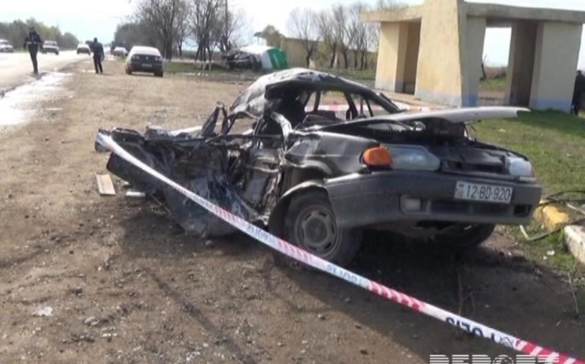 Biləsuvarda baş verən qəzada 4 nəfər ölüb, 1 nəfər yaralanıb - YENİLƏNİB