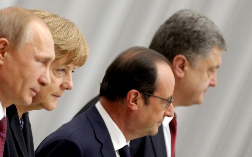 Poroşenko, Putin, Olland və Merkel Ukraynanın şərqindəki vəziyyəti müzakirə edib
