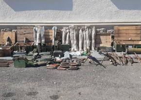 Füzuli polisi silah-sursat aşkarladı