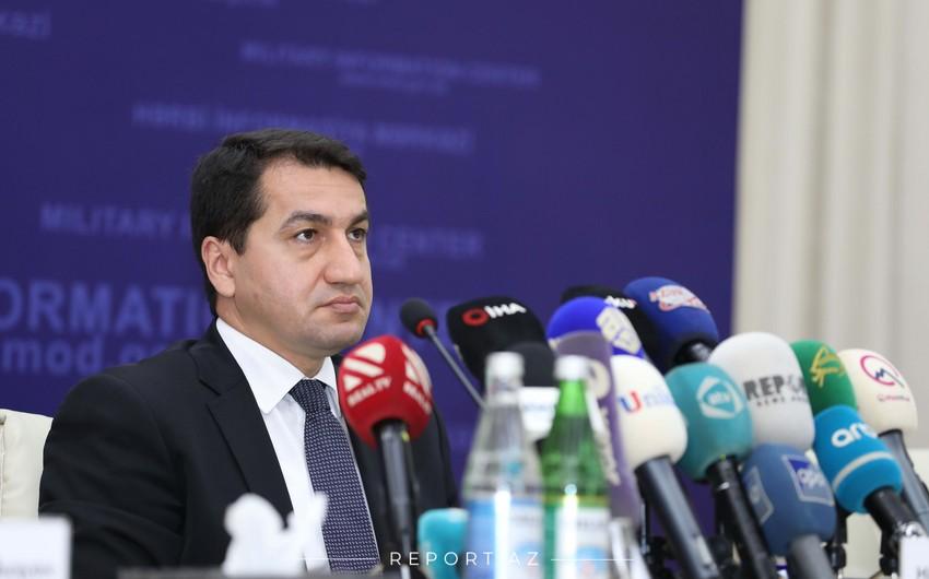 Hikmət Hacıyev: Ermənistanın siyasi rəhbərliyi Azərbaycan Prezidentinin fəaliyyətini imitasiya etməyə çalışır