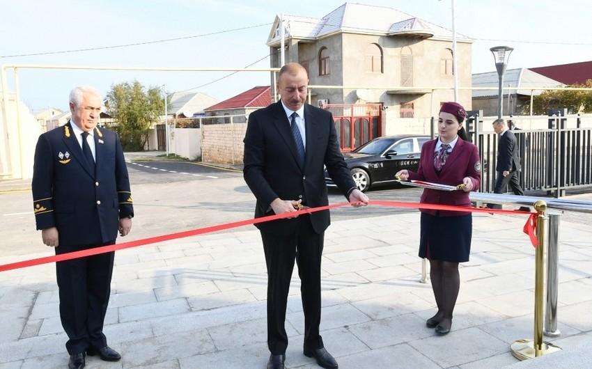 Prezident İlham Əliyev Pirşağı dəmir yolu stansiyasının açılışında iştirak edib - FOTOLAR - YENİLƏNİB-3