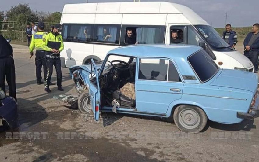 Cəlilabadda iki minik avtomobili toqquşub, 4 nəfər xəsarət alıb
