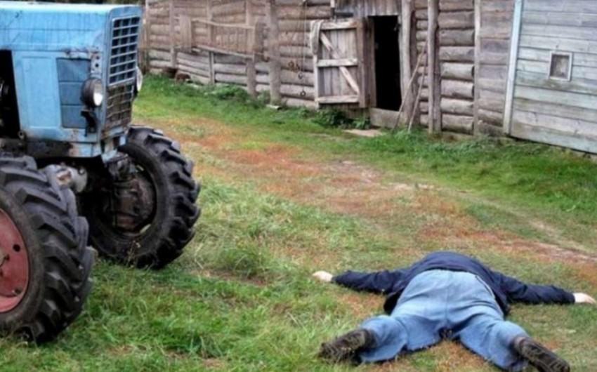Şəmkirdə traktor sürücüsü bədbəxt hadisə nəticəsində ölüb