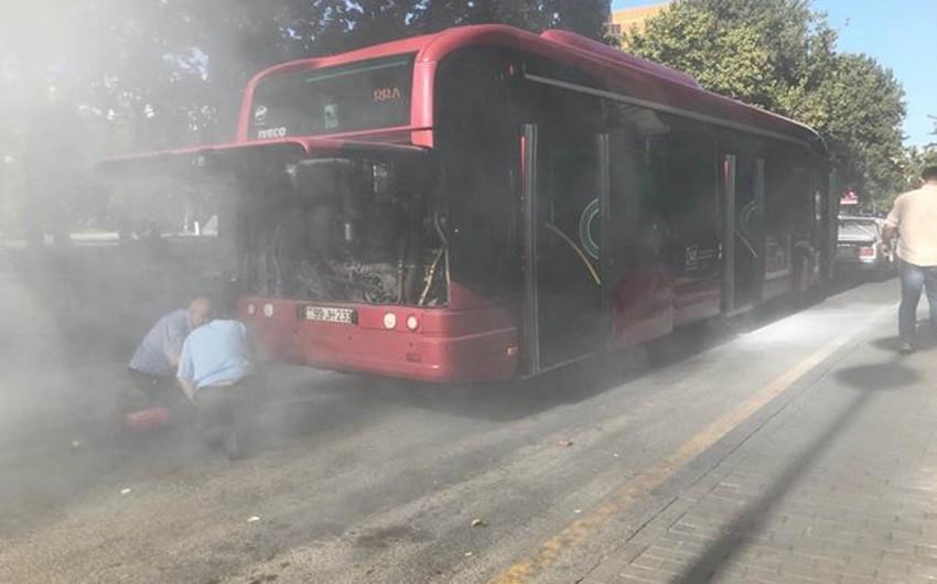 """""""Baku Bus""""ın avtobusunda tüstülənmə olub - VİDEO - FOTO"""