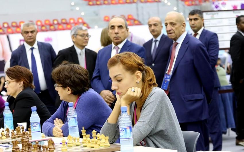 Yaqub Eyyubov Azərbaycan şahmatçılarının Olimpiadadakı çıxışlarını izləyib