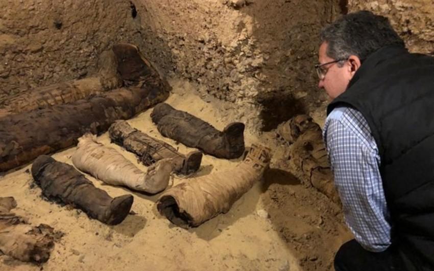 Misirdə 50 mumiyanın olduğu qədim məqbərə aşkarlanıb - FOTO