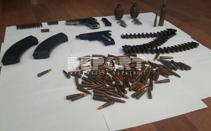 Füzuli rayonunda silah-sursat tapılıb
