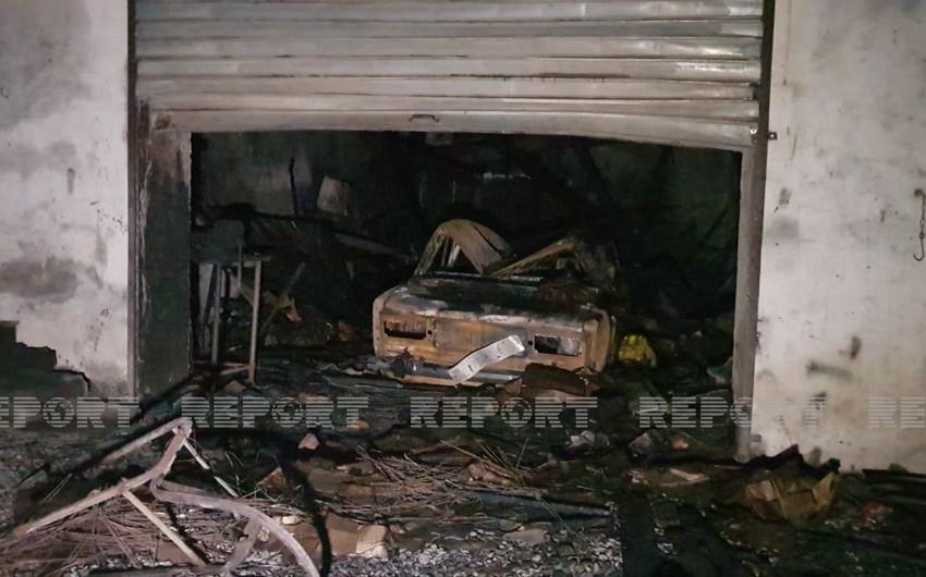 Ağdaşda avtomobil təmiri sexində yanğın olub, bir neçə nəqliyyat vasitəsi yanıb