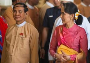 Myanmada prezident və dövlət müşaviri saxlanılıb