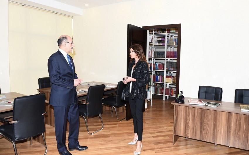 Mehriban Əliyeva Şağan Mədəniyyət Mərkəzinin yeni binasının açılış mərasimində iştirak edib