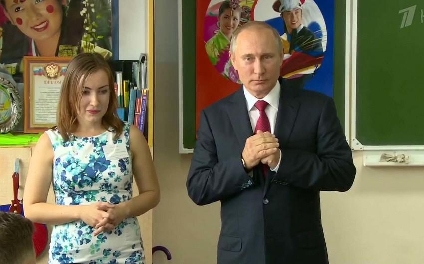 Putin sentyabrın 1-də məktəblərin birində açıq dərs keçəcək