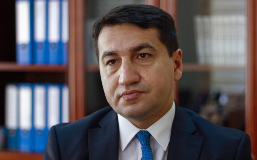 """Hikmət Hacıyev: """"Mülki infrastruktura dəymiş zərər qiymətləndirilir"""""""