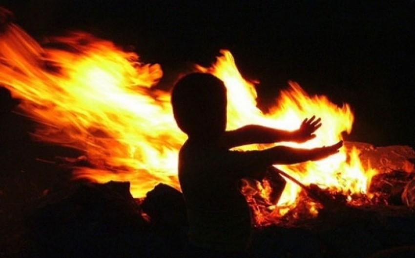 Sumqayıtda baş vermiş yanğın nəticəsində 6 yaşlı uşaq yanaraq ölüb