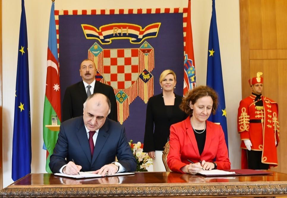 Azərbaycan-Xorvatiya sənədləri imzalanıb