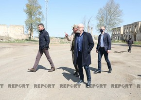 Ukrainian deputy PM visits Azerbaijan's Aghdam district