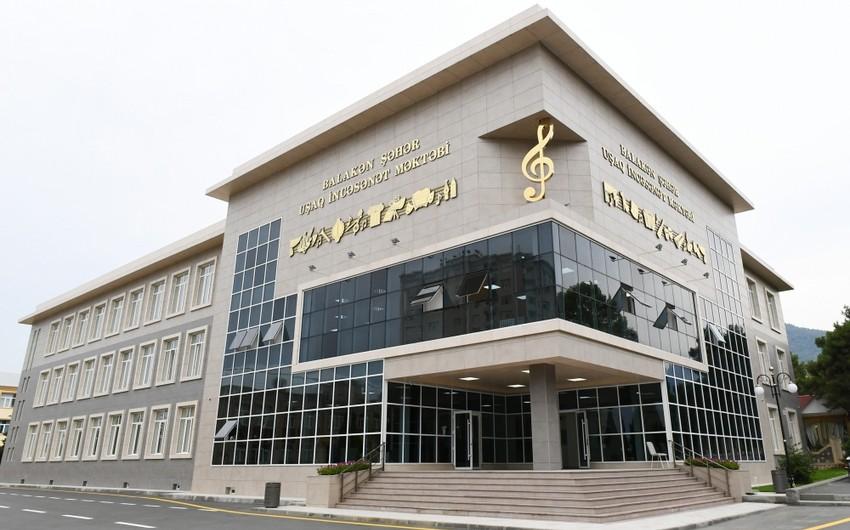 Balakən şəhər Uşaq İncəsənət Məktəbinin yeni binasının açılışı olub