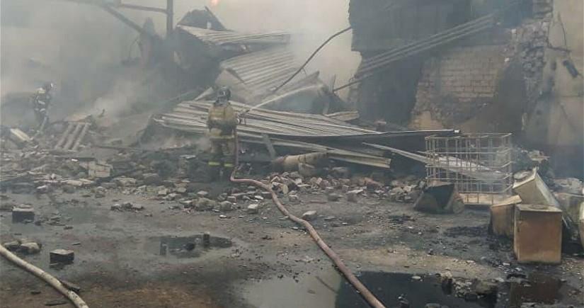 При пожаре на заводе в России погибли двенадцать человек