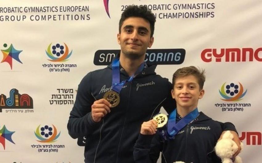 Azərbaycan akrobatları Avropa çempionatında 1 qızıl, 1 gümüş, 3 bürünc medal qazanıb