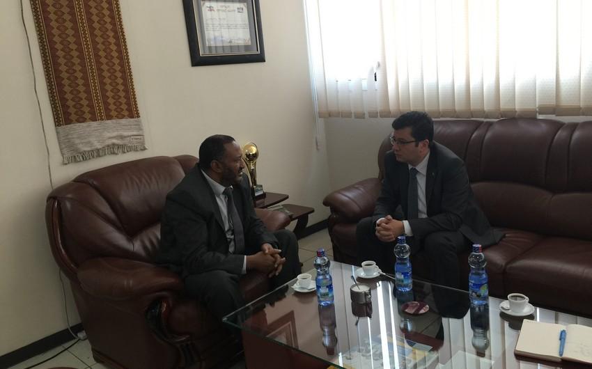 Elman Abdullayev Efiopiyanın sənaye naziri ilə görüşüb