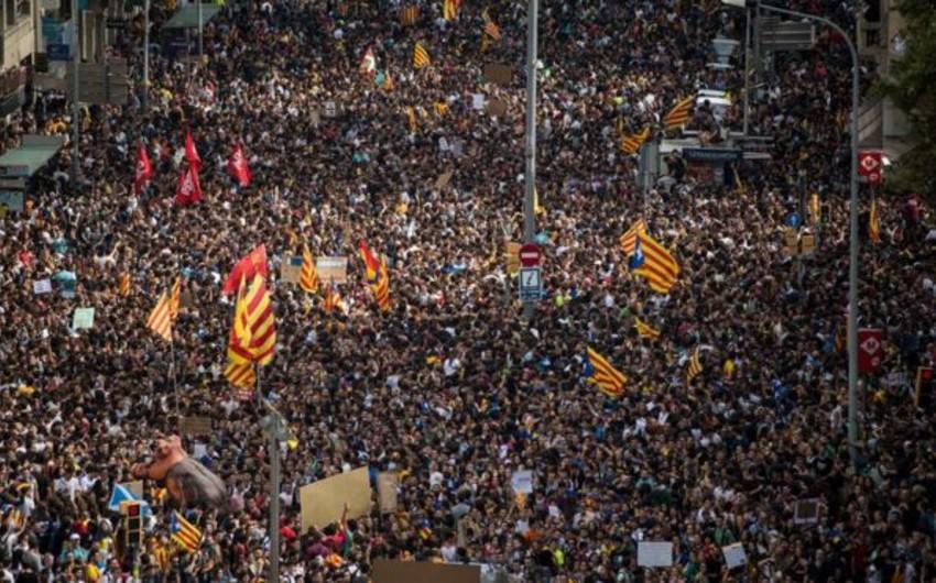 Kataloniyada ümumi tətil elan edilib