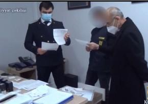 Xəstəxana direktorunun tutulmasının əməliyyat görüntüləri yayıldı - VİDEO