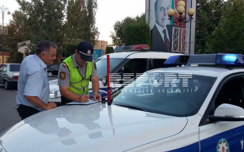 Ağdaş yol polisinin keçirdiyi reyd zamanı 9 sürücü saxlanılıb