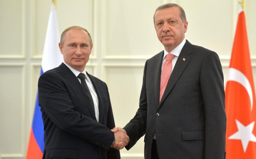 Putin və Ərdoğan ikitərəfli əməkdaşlığın gələcək inkişafını müzakirə edib