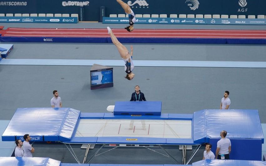 Azərbaycanın batut gimnastikası üzrə sinxron cütlüyü Avropa ikincisi olub