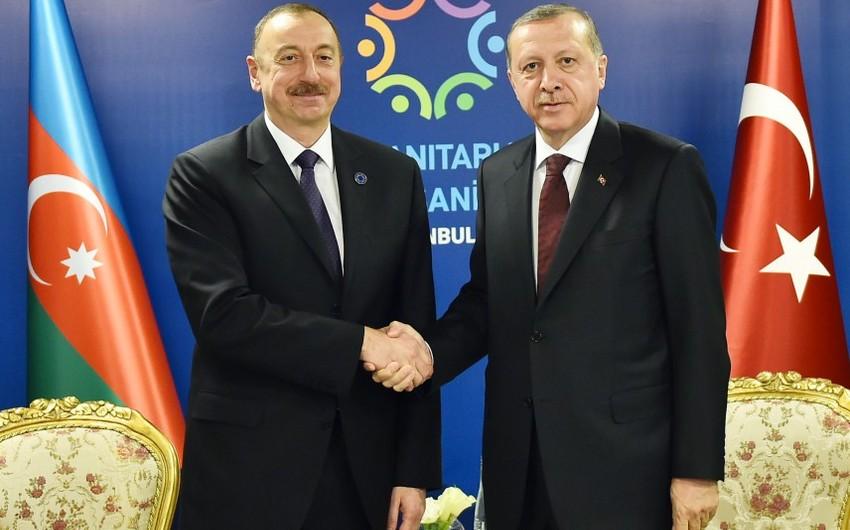 Azərbaycan və Türkiyə prezidentləri arasında görüş olub