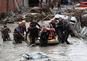 Türkiyədə sel nəticəsində ölənlərin sayı 72 nəfərə çatıb