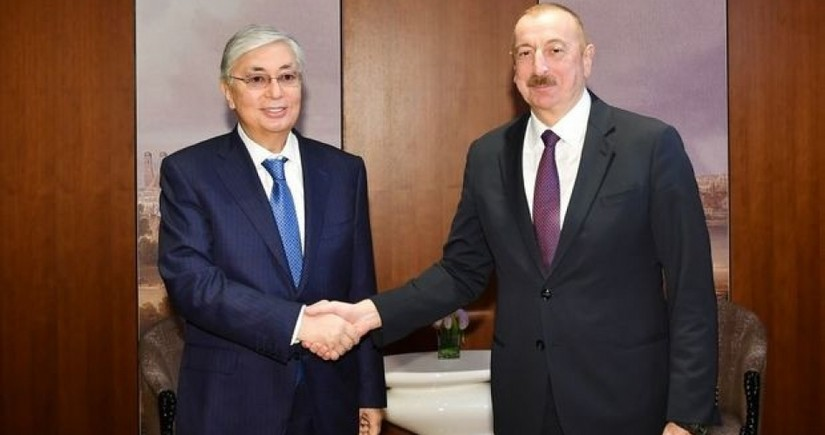 Azerbaijani, Kazakh Presidents hold phone conversation
