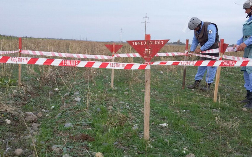 Armenian-made landmine found in Aghdam region of Azerbaijan