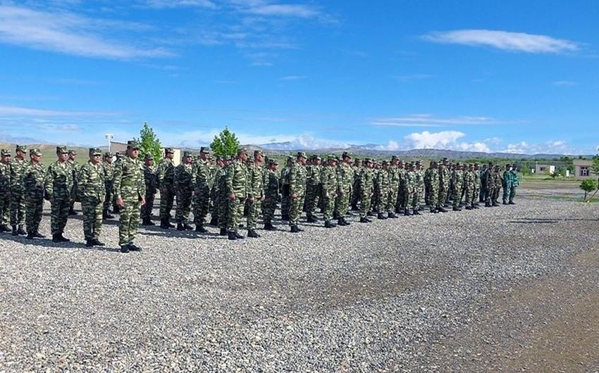 Naxçıvan Qarnizonu Qoşunlarında toplantı keçirildi - VİDEO