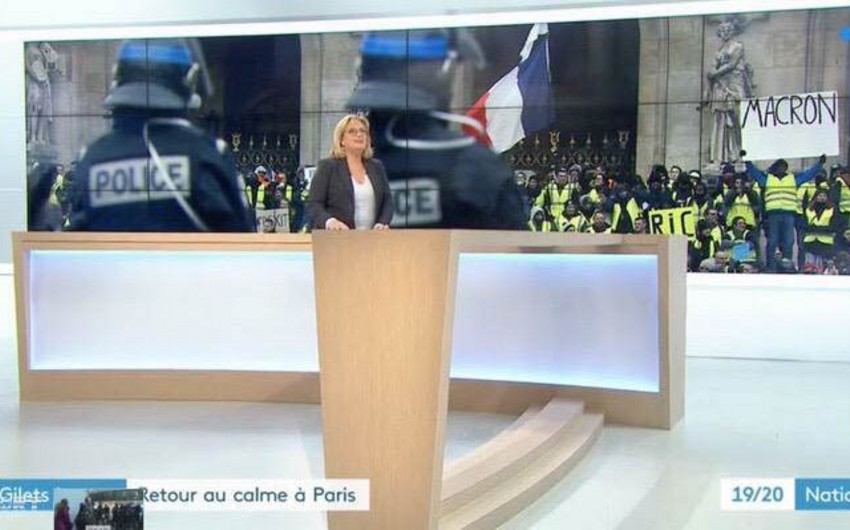 """France 3 telekanalı """"sarı jiletlilər""""in aksiyasının yayımını təhrif etməkdə günahlandırılır - FOTO"""