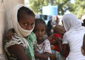 Efiopiyada yüzdən artıq insan aclıqdan ölüb
