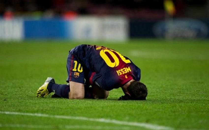 Lionel Messi üç həftə müddətinə sıradan çıxıb