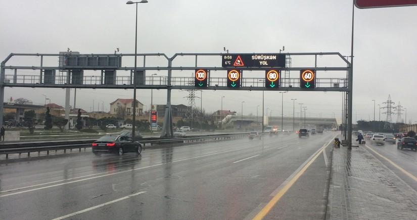 DYP yağışlı hava şəraiti ilə əlaqədar sürücülərə müraciət edib