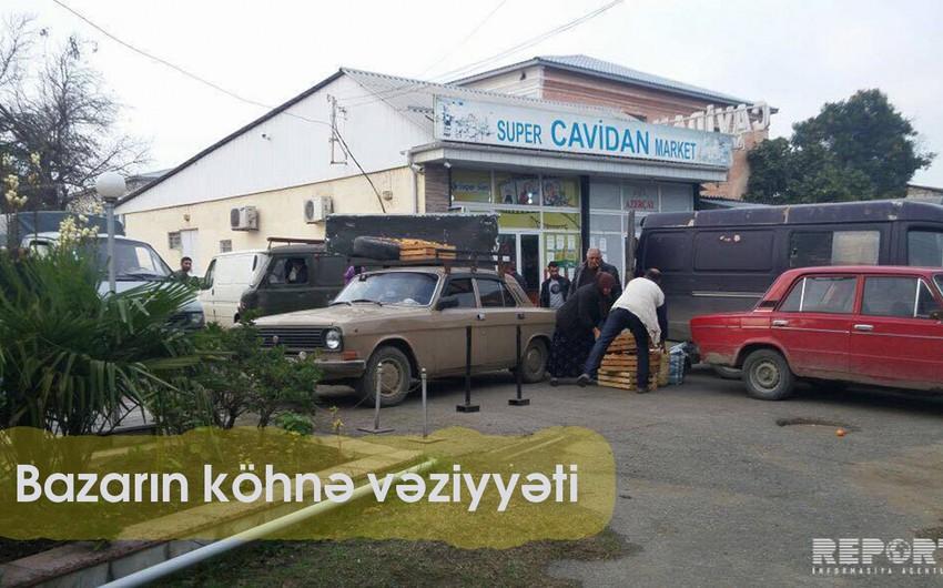 Lənkəranda generalın abidəsinin ətrafındakı bazar yığışdırılıb