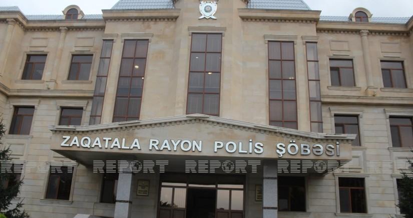 """Zaqatalada polis """"patı""""əməliyyatı keçirib, keçmiş məhkum saxlanılıb"""